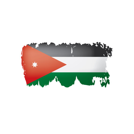 Jordan flag, vector illustration on a white background. Ilustrace
