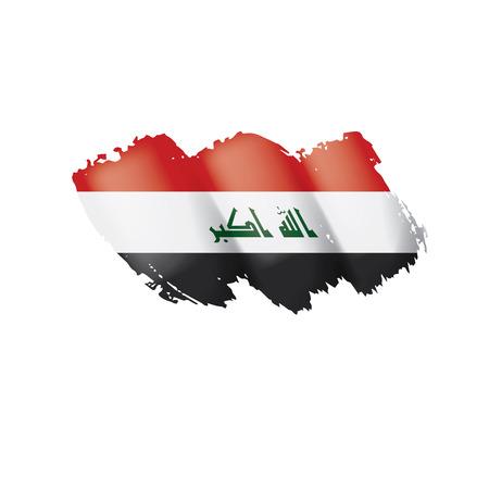 Iraqi flag isolated on a white background, vector illustration Vektorové ilustrace
