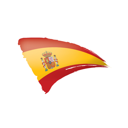 Spain flag isolated on a white background, vector illustration Illustration