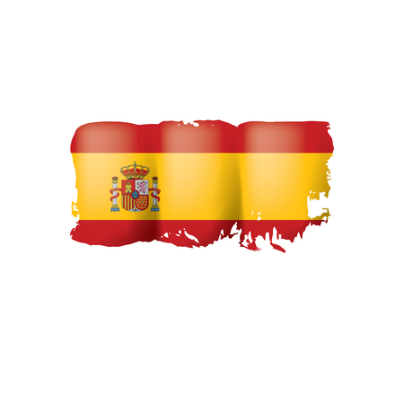 Spain flag isolated on a white background, vector illustration