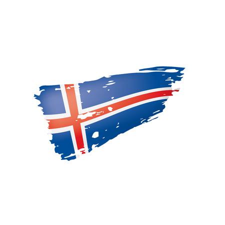 Drapeau de l'Islande isolé sur fond blanc, illustration vectorielle
