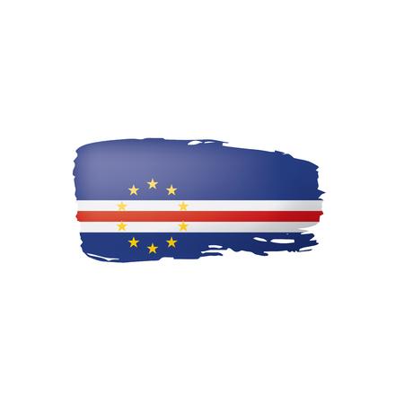 Cape Verde flag, vector illustration on a white background.