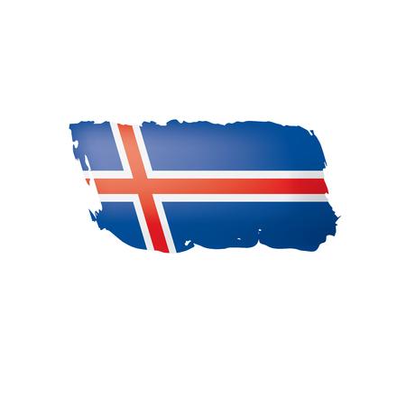 Iceland flag, vector illustration on a white background.