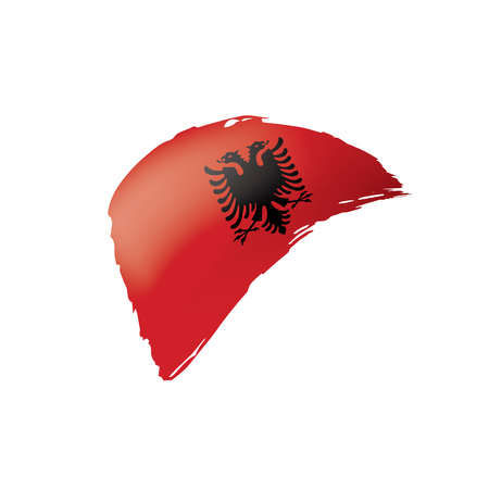 Albania flag, vector illustration on a white background.