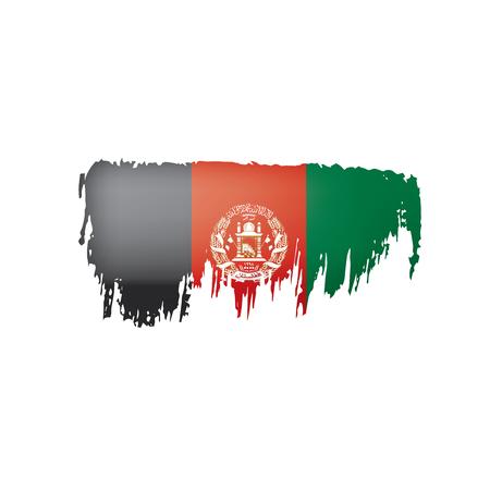 Afghanistan flag, vector illustration on a white background.