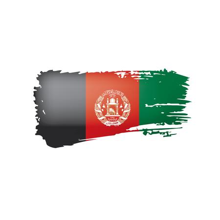 Bandera de Afganistán, ilustración vectorial sobre fondo blanco.