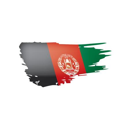 Afghanistan-Flagge, Vektorillustration auf einem weißen Hintergrund