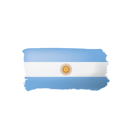 Argentina flag, vector illustration on a white background.
