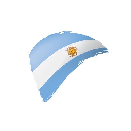 Argentina flag, vector illustration on a white background.
