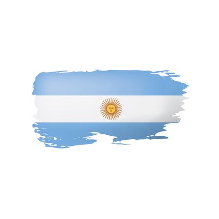 Flaga Argentyny, wektor ilustracja na białym tle.