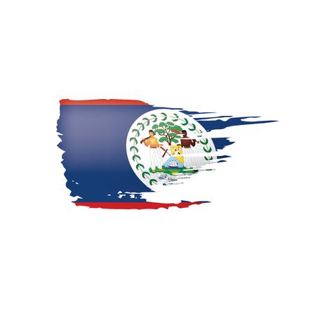 Belize flag, vector illustration on a white background.