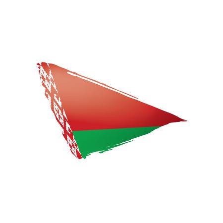 Belarus flag, vector illustration on a white background.  イラスト・ベクター素材