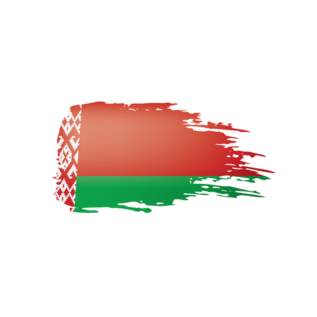 Belarus flag, vector illustration on a white background. Иллюстрация