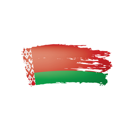 Belarus flag, vector illustration on a white background.