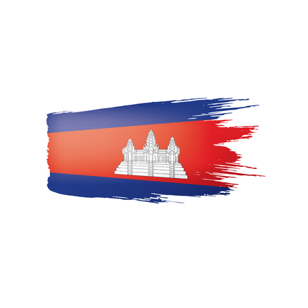 Cambodia flag, vector illustration on a white background.