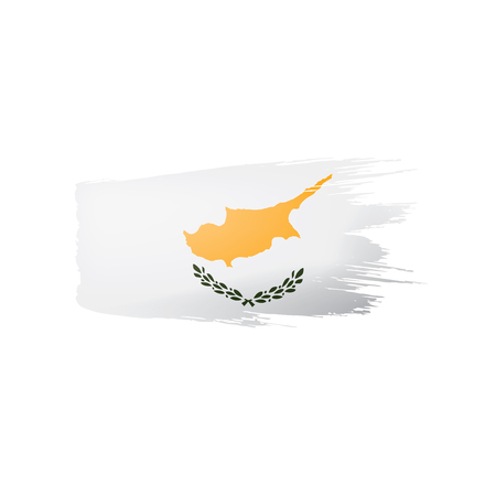 Cyprus flag, vector illustration on a white background 일러스트