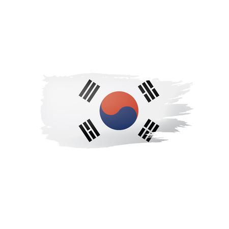 South Korean flag, vector illustration on a white background