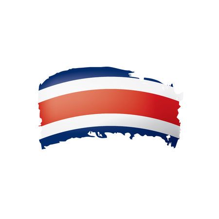 Costa Rica flag, vector illustration on a white background 矢量图像