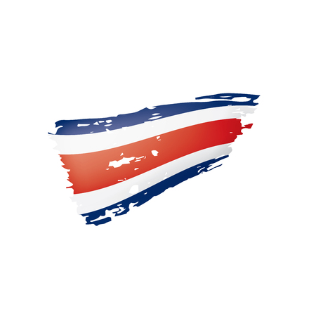 Costa Rica flag, vector illustration on a white background Illustration