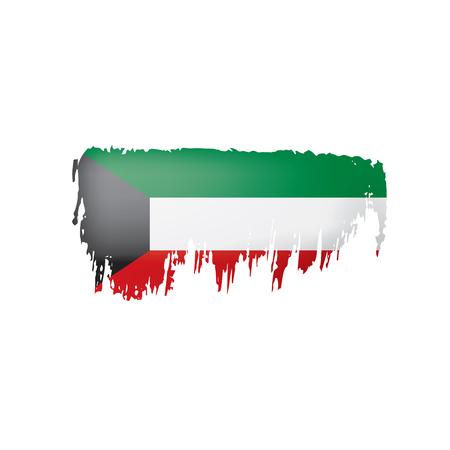 Drapeau du Koweït, illustration vectorielle sur fond blanc