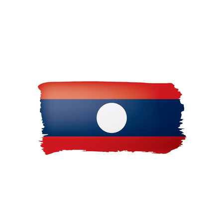 Laos flag, vector illustration on a white background.