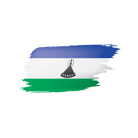 Lesotho flag, vector illustration on a white background 일러스트