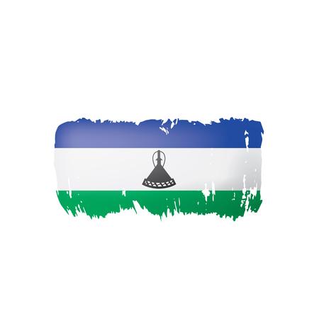 Lesotho flag, vector illustration on a white background.