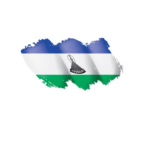 Lesotho flag, vector illustration on a white background 일러스트