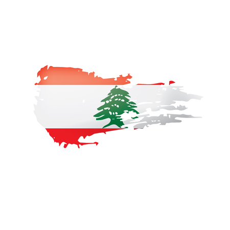 Lebanese flag, vector illustration on a white background.