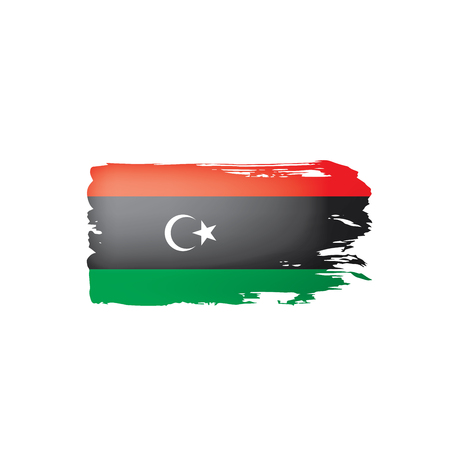 Libya flag, vector illustration on a white background. Illustration
