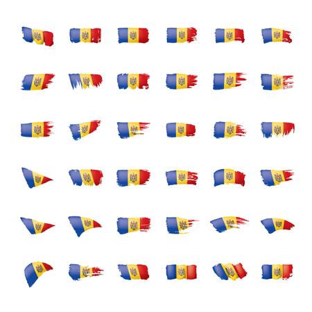 Bandera de Moldavia, ilustración vectorial sobre un fondo blanco Ilustración de vector