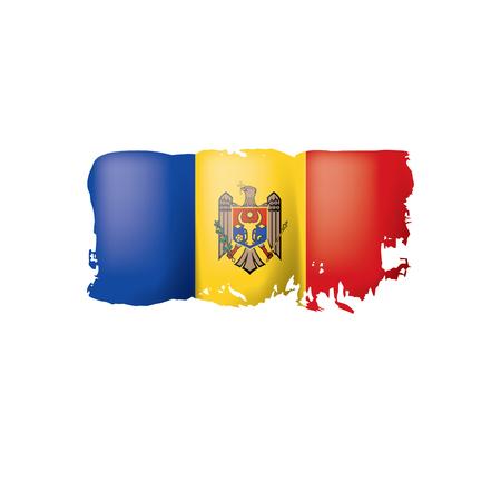 Bandera de Moldavia, ilustración vectorial sobre fondo blanco.