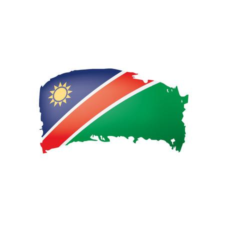 Namibia flag, vector illustration on a white background