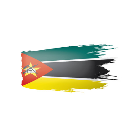 Mozambique flag, vector illustration on a white background.
