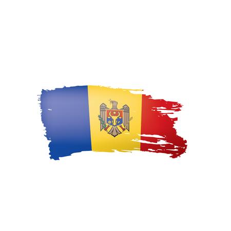 Moldova flag, vector illustration on a white background.