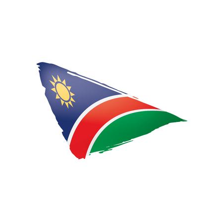 Vlag van Namibië, vectorillustratie op een witte achtergrond Vector Illustratie