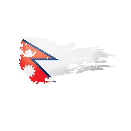 Nepal flag, vector illustration on a white background