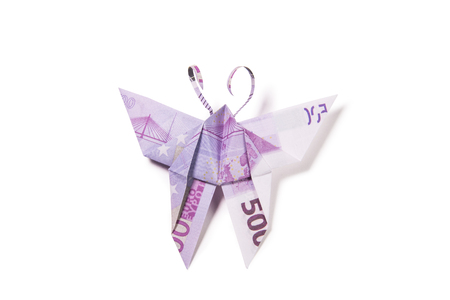 euro in the form of butterflies