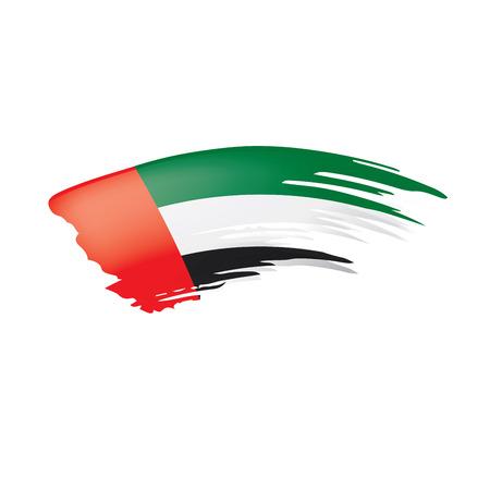 Bandera de los Emiratos Árabes Unidos, ilustración vectorial sobre un fondo blanco