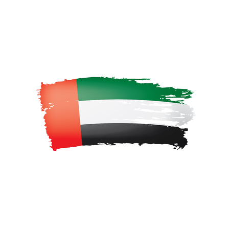 United Arab Emirates flag, vector illustration on a white background 스톡 콘텐츠 - 110006136