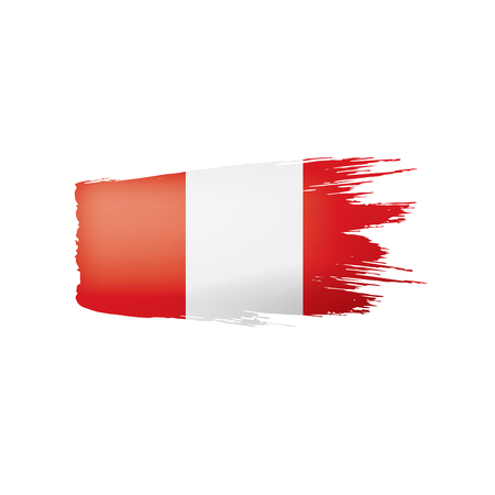 Peru flag, vector illustration on a white background Stock Vector - 110006229