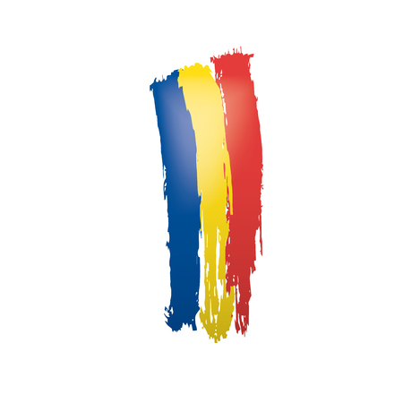 Romania flag, vector illustration on a white background 矢量图像