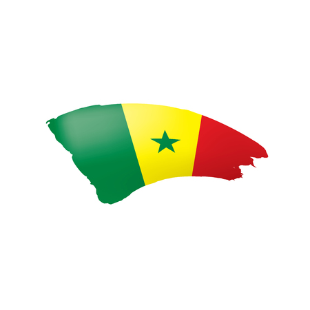 Senegal flag, vector illustration on a white background  イラスト・ベクター素材