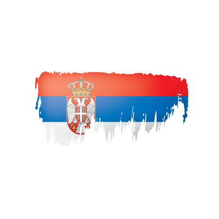 Serbia flag, vector illustration on a white background. Illustration