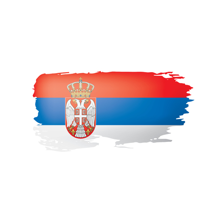 Serbia flag, vector illustration on a white background.