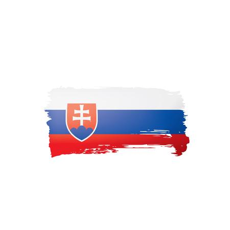 Slovakia flag, vector illustration on a white background.