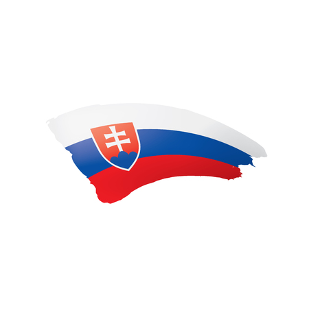 Slovakia flag, vector illustration on a white background.