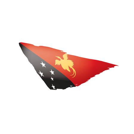 Papua New Guinea flag, vector illustration on a white background Vector Illustration