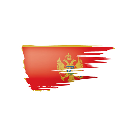 montenegro flag, vector illustration on a white background