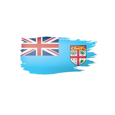Fiji flag, vector illustration on a white background Illustration